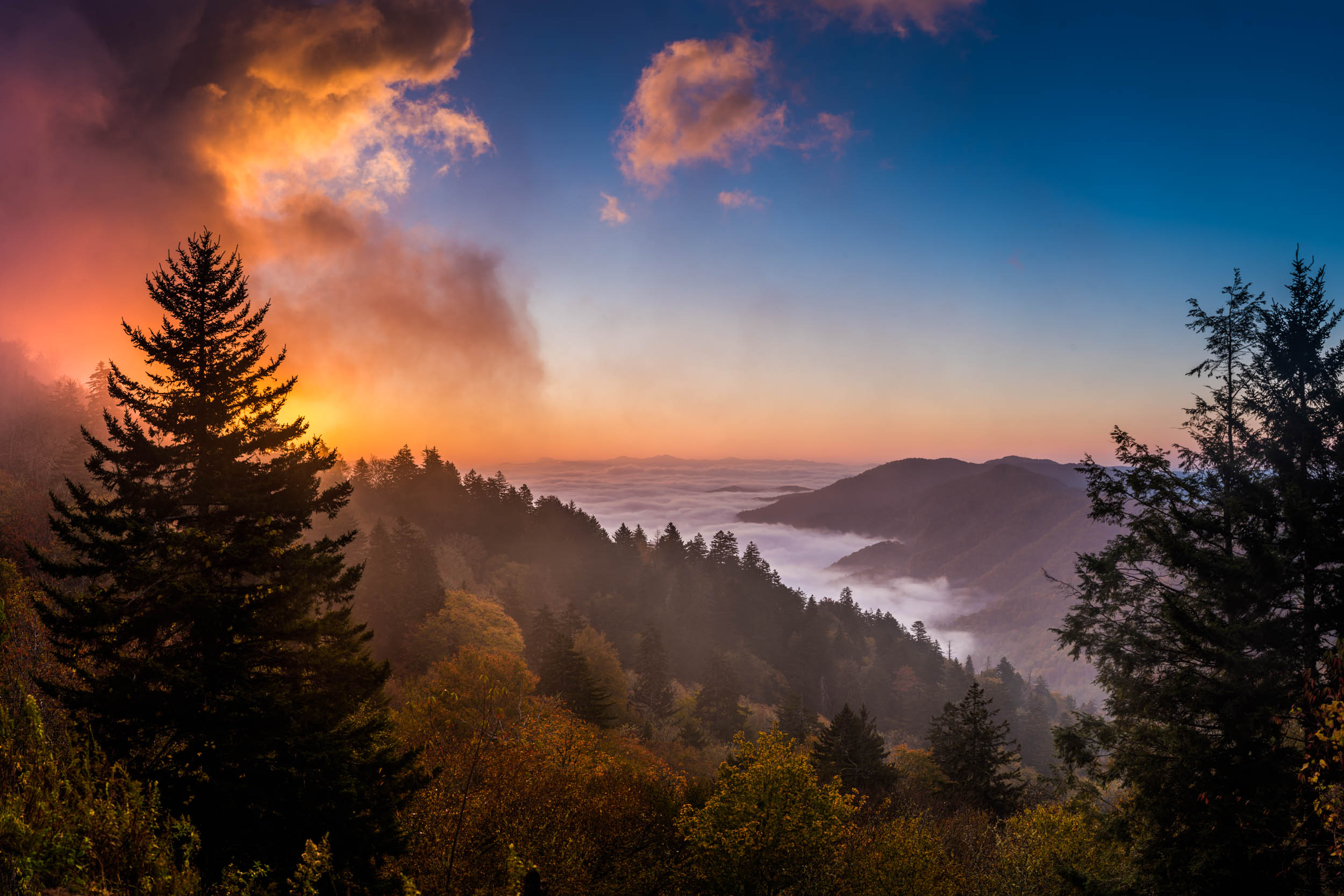 newfound gap sunrise 2